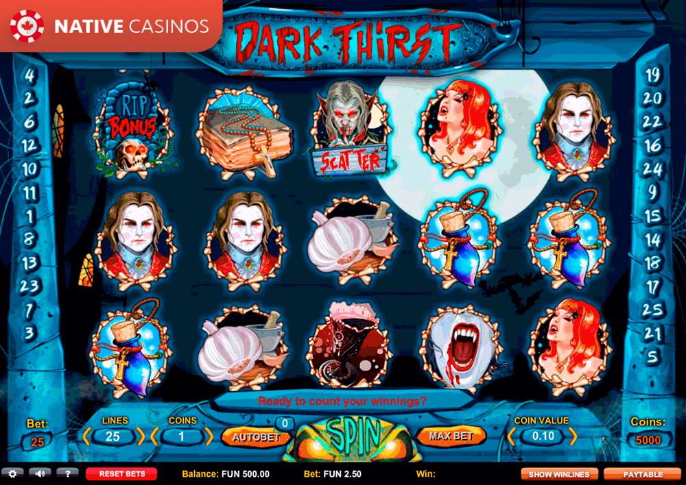 2020 париматч dark thirst темная жажда игровой автомат 100