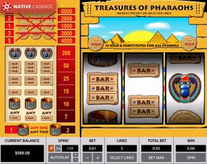 Treasures of the Pharaohs By Pragmatic Play Info